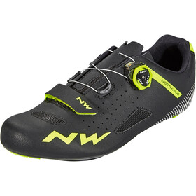 Northwave Core Plus Shoes Herre black/yellow fluo